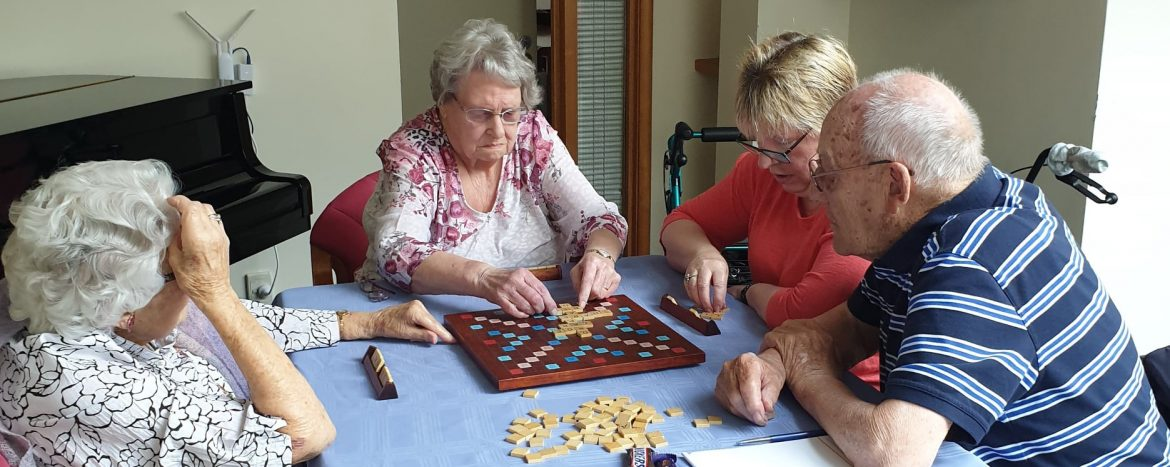 Ropata Lodge Care Community residents playing a game.