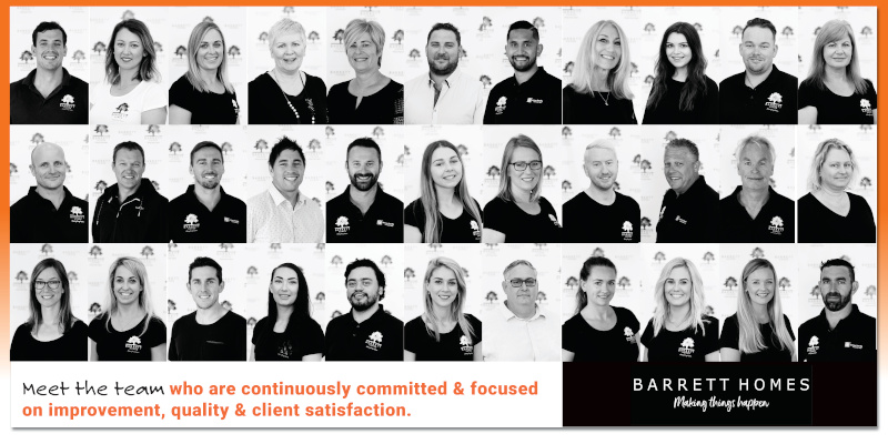 Barrett Homes meet the team collage 2019