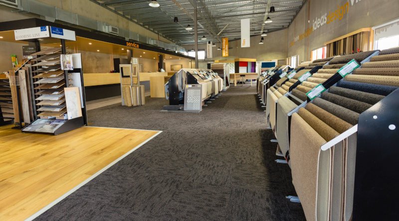 Andersens Floor Coverings Pty Ltd inside view of a store.