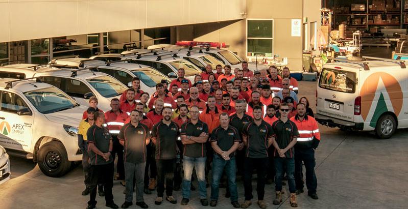 Apex Energy Australia group photo of employees