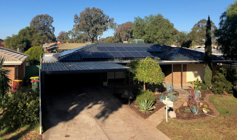 Apex Energy Australia home with solar panels installed on the roof