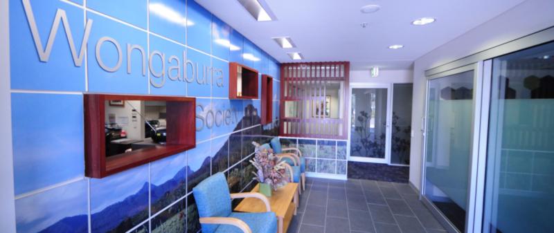 Wongaburra Society front reception area inside