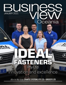 January 2021 issue cover of Business View Oceania