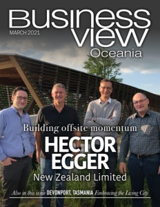 March 2021 issue cover of Business View Oceania